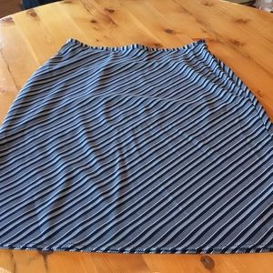 The Limited Pencil Skirt, Navy&white striped